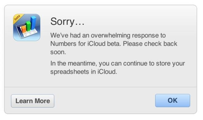 iWork für iCloud: Resonanz auf offenen Betatest übersteigt Apples Kapazitäten