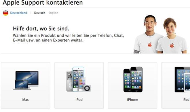Apple startet neugestaltete Support-Website