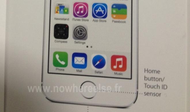 """iPhone 5S: Foto der Anleitung aufgetaucht, Fingerabdruck-Sensor heißt """"Touch ID"""""""
