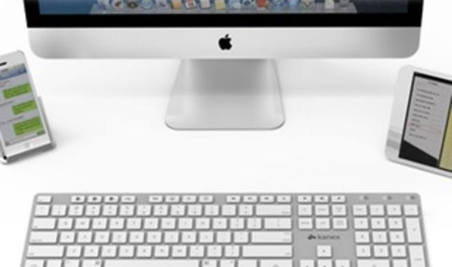 Multi-Sync Keyboard: Kanex stellt Bluetooth-Tastatur im Standard-Format vor
