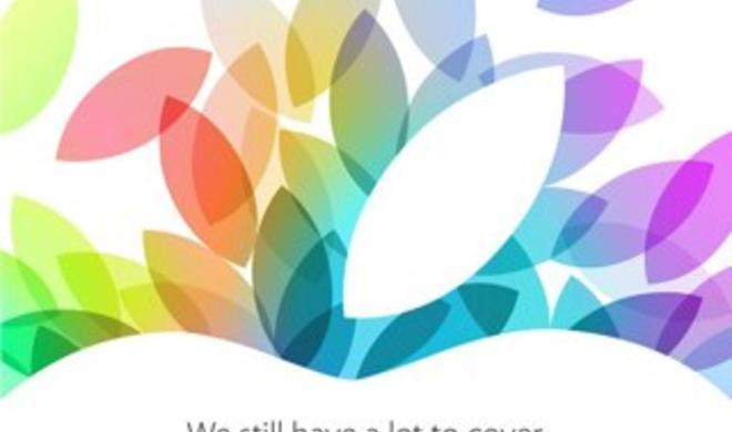 iPad-Event 2013: Apple verschickt Einladungen, Termin am 22. Oktober offiziell bestätigt