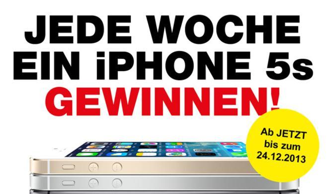 Bis Weihnachten jede Woche ein iPhone 5S gewinnen!