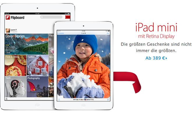 iPad mini mit Retina-Display ab sofort erhältlich, Apple weist auf eingeschränkte Verfügbarkeit hin