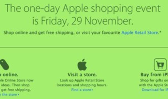 Black Friday 2013: Apple macht mit!