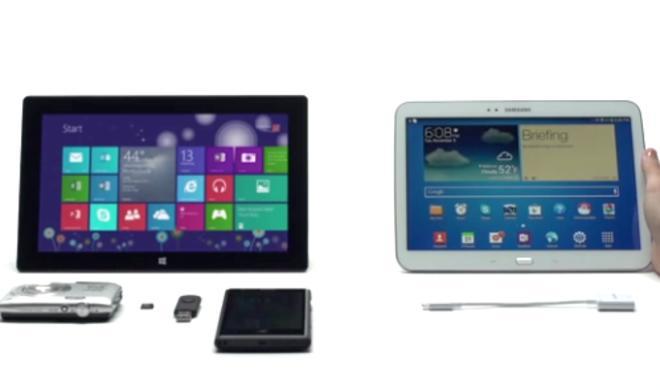 Surface: Microsoft sucht auch direkten Vergleich mit Samsung