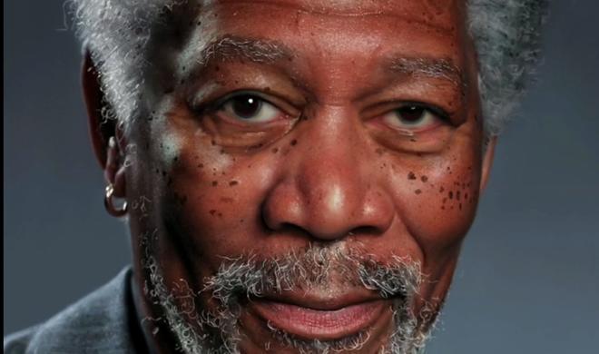 Netzfundstück: Fotorealistisches Morgan-Freeman-Portrait auf dem iPad