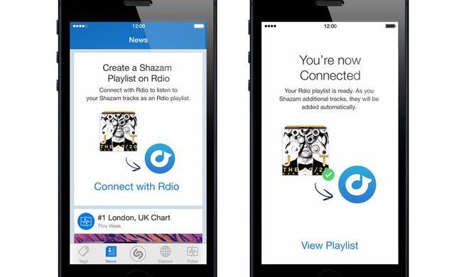 My Shazam Tracks: Shazam-App erstellt automatisch Rdio-Wiedergabeliste