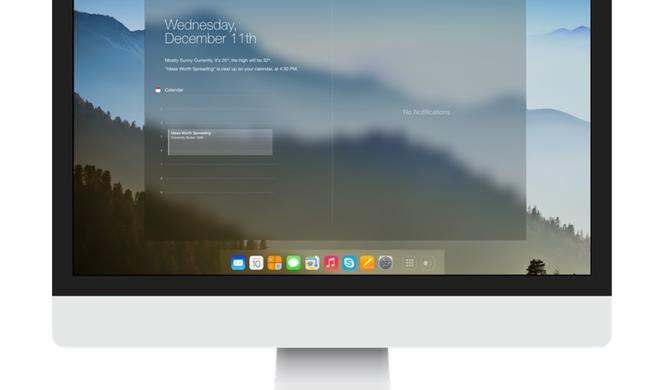 So würde OS X im iOS-7-Design aussehen