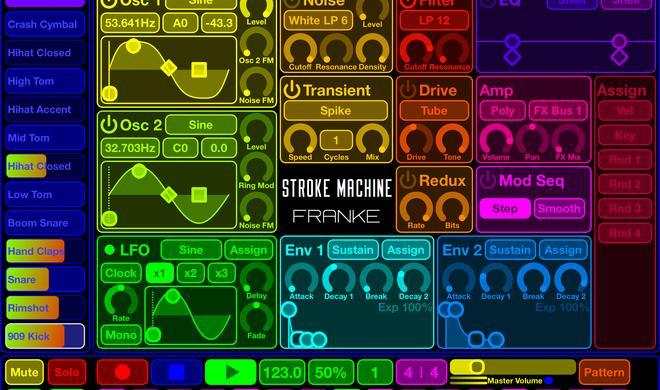 Stroke Machine macht Druck