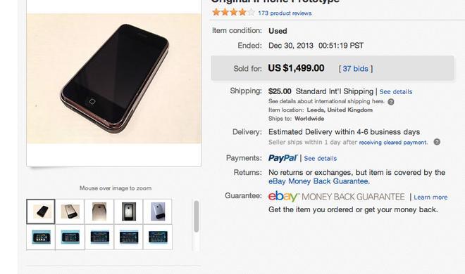 iPhone-Prototyp auf eBay zum Bestpreis versteigert