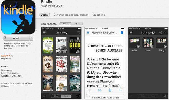 Kindle 4.1 für iOS mit Notizbuchfilter, Fußzeilen, neuen Wörterbüchern und mehr veröffentlicht
