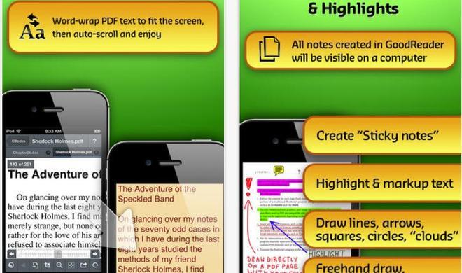 Neue Features, frische Optik und endlich mit iOS 7 kompatibel: GoodReader 3.2 ist da