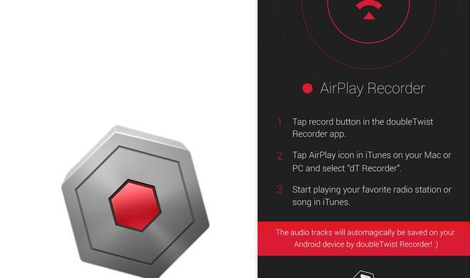 AirPlay Recorder: Android-App schneidet iTunes Radio mit
