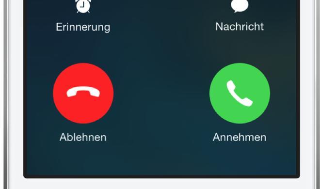 Eingehende Anrufe unter iOS stummschalten
