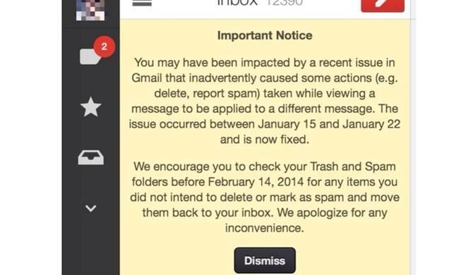 Versehentlich gelöschte E-Mails: Google warnt vor Gmail-Bug