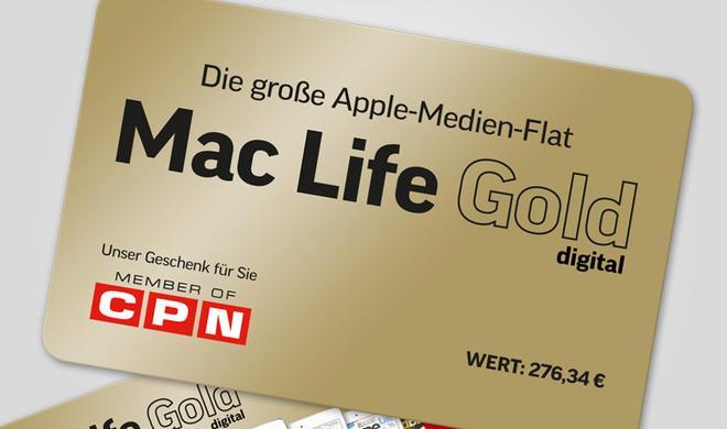 Mac Life Gold digital: Die Apple-Medien-Flat gratis zu jedem Mac