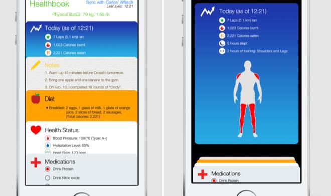 iOS 8: So könnte Healthbook aussehen