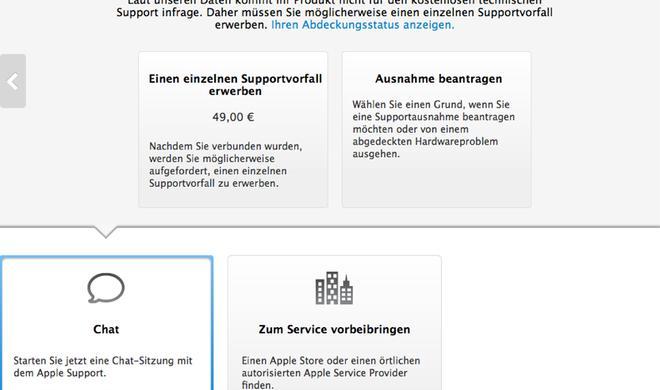 Apple hält die Hand auf: Support-Anfragen via Chat künftig kostenpflichtig?