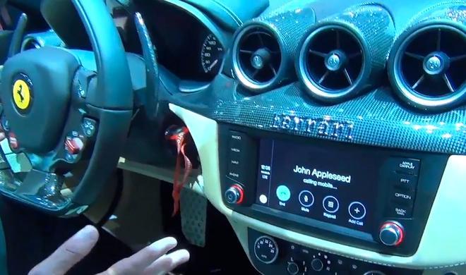 Traumwagen 2.0: So sieht die CarPlay-Integration in einem Ferrari aus