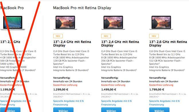 13-Zoll MacBook Pro ohne Retina-Display: Wird die Produktion 2014 eingestellt?