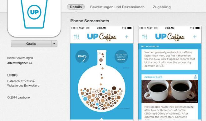 UP Coffee: Jawbone-App überwacht Kaffee-Konsum