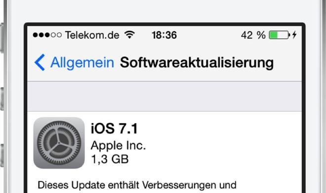 iOS 7.1: Alte Fehler behoben, neue Fehler hinzugefügt