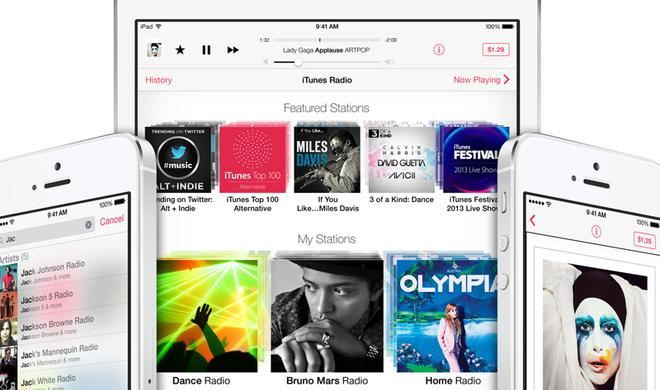 iTunes Radio mit Lokalwerbung