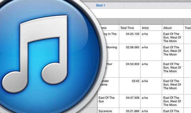 So kopieren Sie Titel-Informationen aus iTunes in eine Tabelle