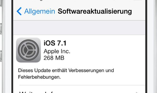 Apple veröffentlicht iOS 7.1 mit CarPlay, optimierter Leistung