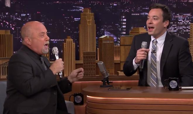 Billy Joel und Jimmy Fallon musizieren mit iPad in Late-Night-Show