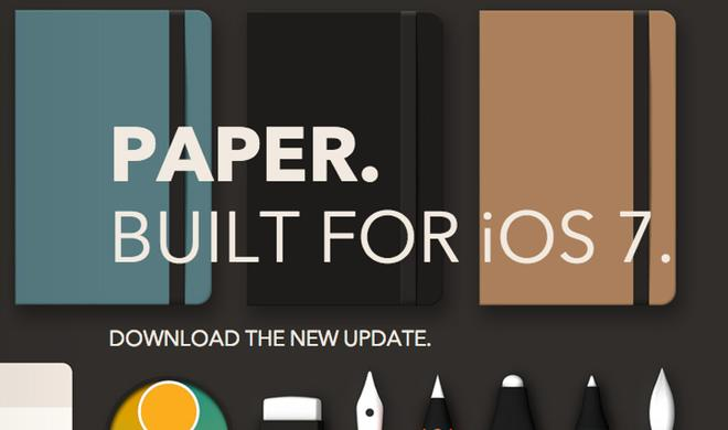 Paper: Zeichen-App für das iPad erhält umfassendes iOS-7-Update