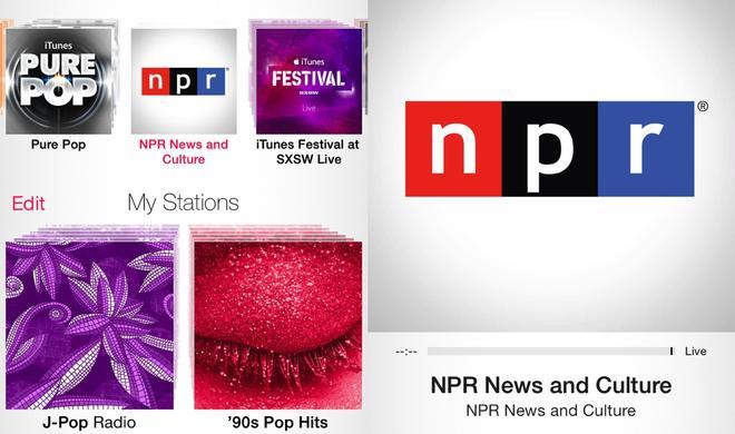 NPR: Erster News/Talk-Kanal auf iTunes Radio