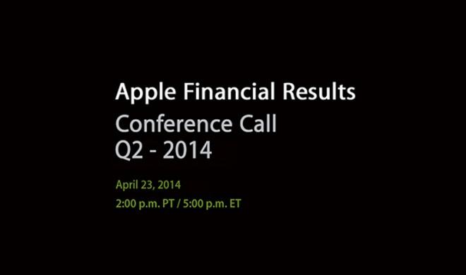 AAPL Q2/2014: Apple nennt am 23. April neue Quartalszahlen