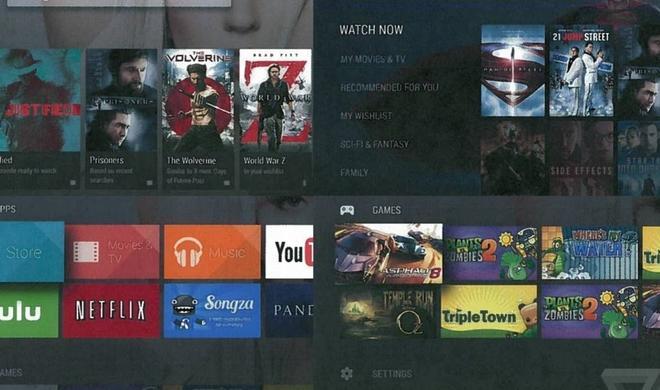 Android TV: Erste Screenshots und Werbephrasen