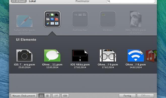 Ordner erstellen für iCloud-Dokumente