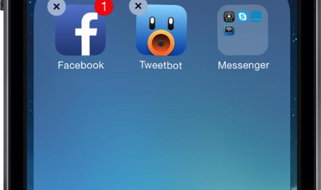 iOS 7: So verschieben Sie einen Ordner in einen anderen Ordner