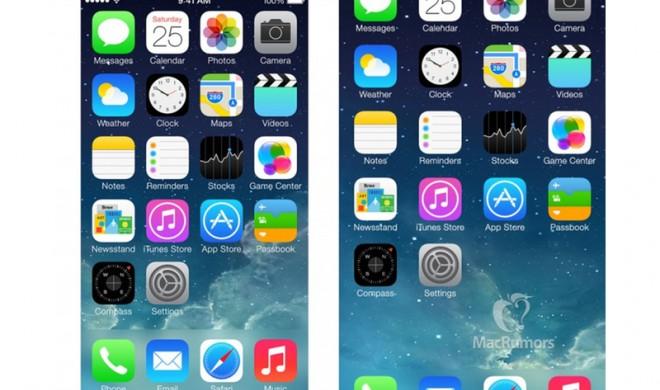 iPhone 6: So könnten Apps auf dem 4,7-Zoll-Display aussehen