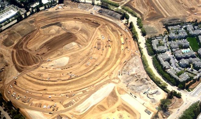 Spaceship gesichtet: Luftaufnahme zeigt imposante Grundrisse des Apple Campus 2