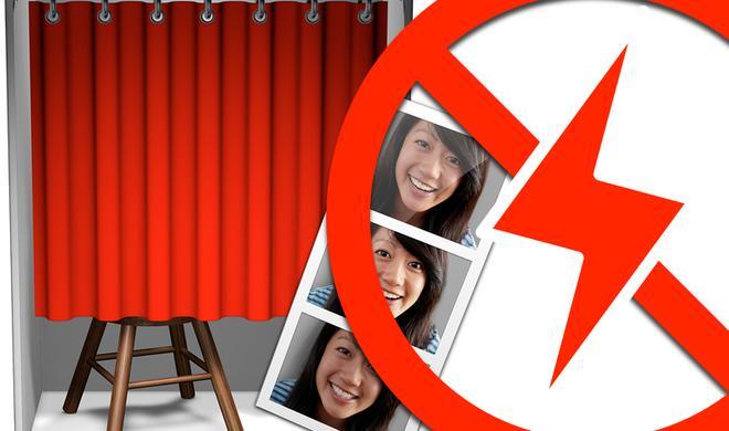Kamera-Blitz in Photo Booth deaktivieren