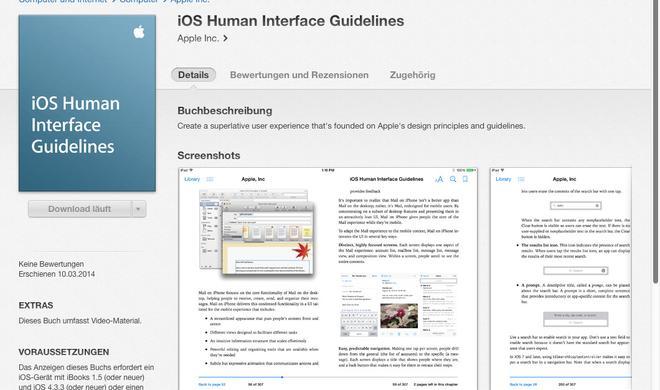 Apple veröffentlicht iOS Human Interface Guidelines als iBook