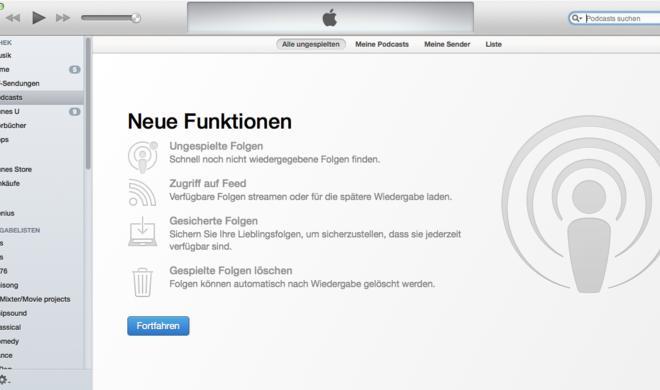 Apple verbessert Podcast-Nutzung: iTunes 11.2 und Podcasts iOS-App