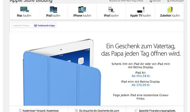 25 Euro gespart: Apple gewährt ab sofort Education-Rabatt auf iPad Air und iPad mini