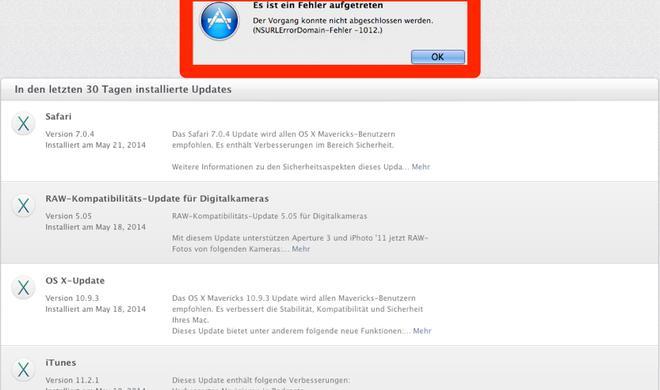 Abgelaufenes SSL-Zertifikat: Kurze Zwangspause für Updates im Mac App Store