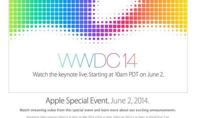 Apple wird WWDC-Keynote am 2. Juni live übertragen