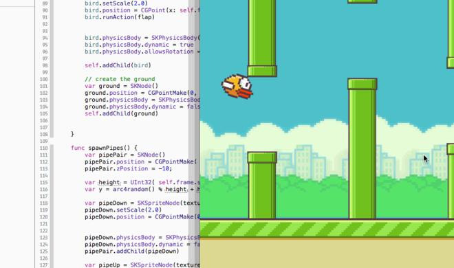 Apples Programmiersprache Swift: Flappy-Bird-Klon und Emoji-Variablennamen