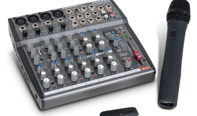 Phonic Kompaktmixer mit Bluetooth Mikrofon