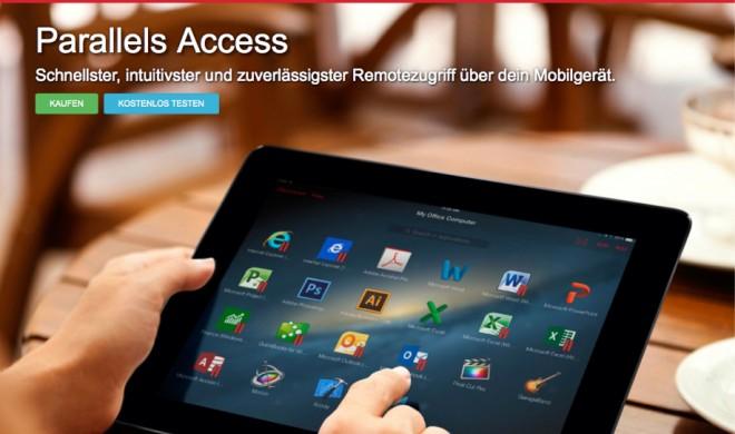 Parallels Access bringt Windows- und Mac-Apps auf iPhone und iPad