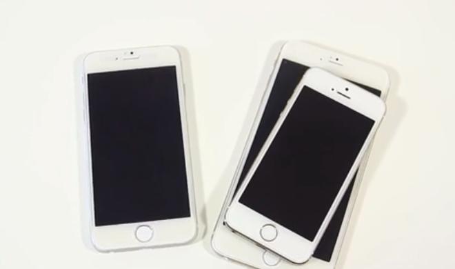 iPhone-6-Dummy und Galaxy Note 3: Phablets im Videovergleich