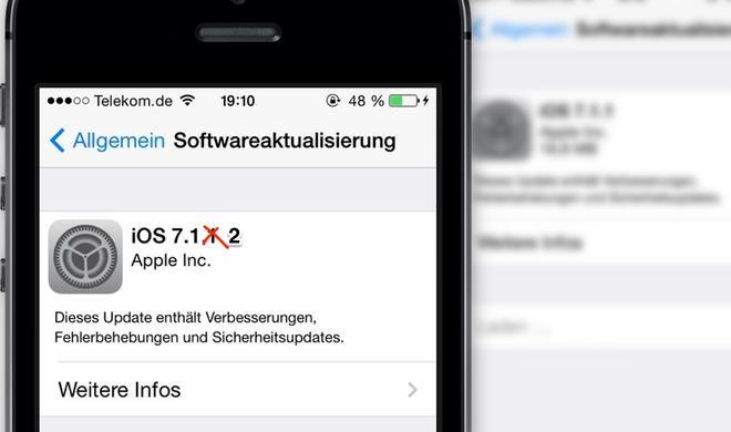 iOS 7.1.2 soll Sicherheitsprobleme mit E-Mail-Anhängen, Sperrbildschirm beheben