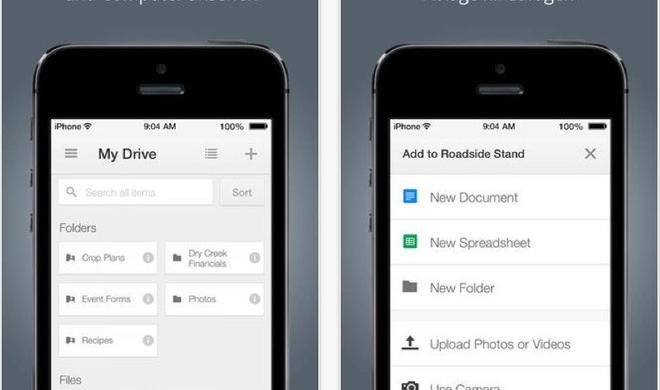 Google Drive: Kleines Update verbessert iOS-App